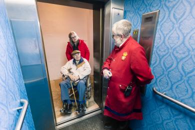 Entering the lift