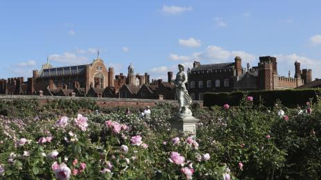 The Rose Garden, looking towards the palace