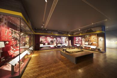 A photograph of the Down to Earth gallery space.