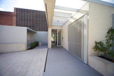 A photograph of the Garden Entrance Doors