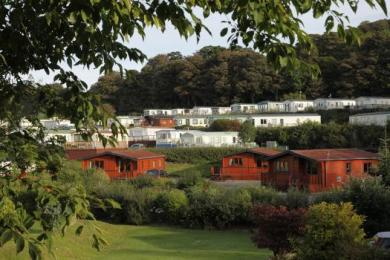 View over Lodges at Blairgowrie Holiday Park