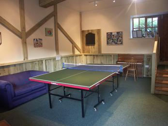 Games room with access via 4 steps to pool table room