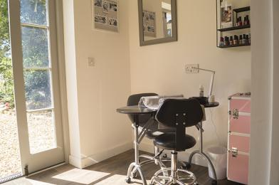 Reception area incorporating beauty treatment area