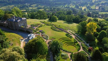 Aerial View of Claverton Manor and Gardens