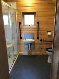 View from bathroom door