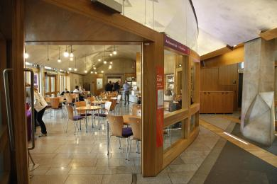 Entrance to the Parliament Cafe
