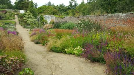 view of garden paths Cambo Walled Garden