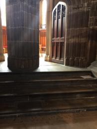 Image showing four stone steps leading to the Chapter House