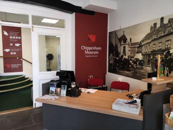Chippenham Museum's information desk at the entrance has low access for wheelchair users and a hearing loop