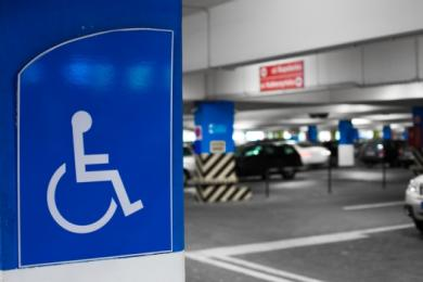 internal-parking for disabled badge holders