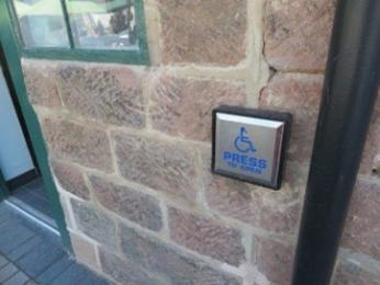 Push button entrance