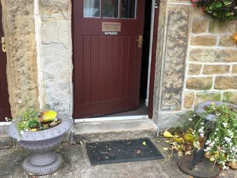 Step entrance to front door