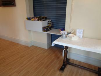Events and school holidays cafe counter