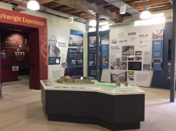 Second Exhibition room and entrance to Arkwright Experience.