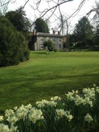 Upper and lower lawns