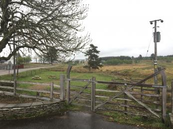 Picnic area with access gate