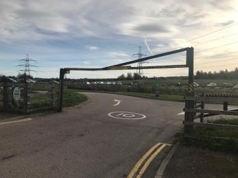Car park entrance 2meter height barrier