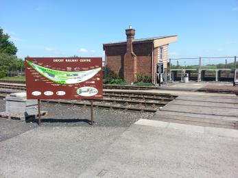 The  entrance to Didcot Railway Centre