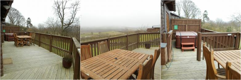 Copper Beech Decking Area with Hot Tub