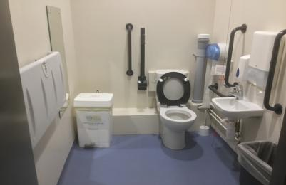 Diaabled and nappy changing toliet