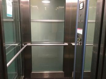 Interior of lift