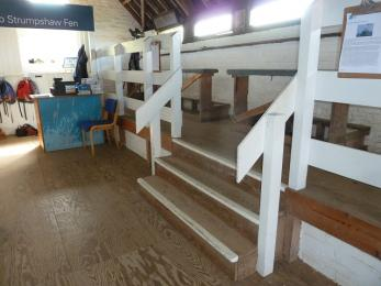 Inside Reception Hide- steps to viewing area
