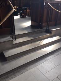 Image showing steps with handrails leading to the Jesus Chapel