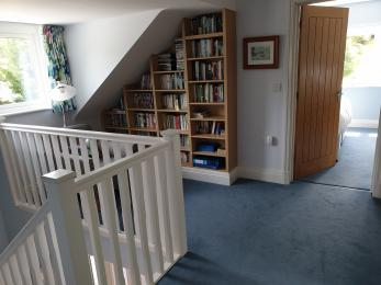 Cosy reading area on the landing