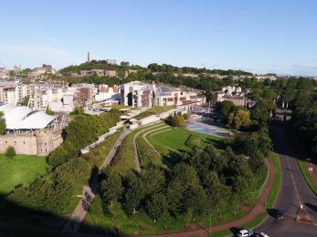 The Scottish Parliament External Landscaping