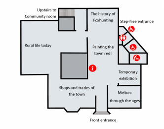 Layout of the ground floor of Melton Carnegie Museum