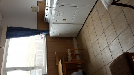 Inside laundry.