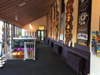 Level access from entrance to bar and box office
