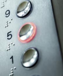 lift buttons with braille