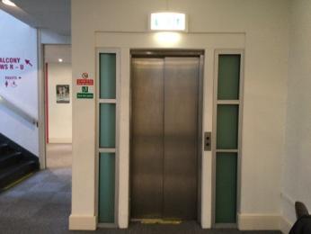 Exterior of lift on ground floor level