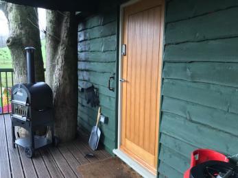 Main entrance door to Will's Tree House