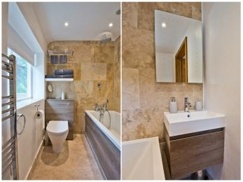 en suite  bath/ shower ( upstairs)