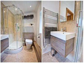 en suite bathroom (upstairs)