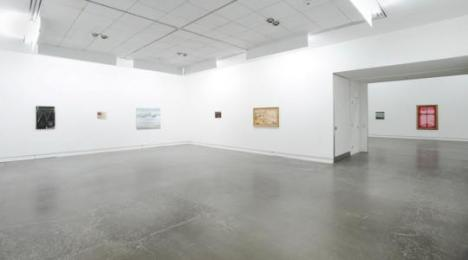 Second largest Gallery space, during Merlin James' Long Game, 2016