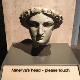 Tactile model of Minerva's head