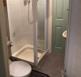 Room 2 - double has a small bathroom with a shower