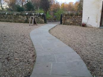 paved path from shop to garden path Cambo Gardens