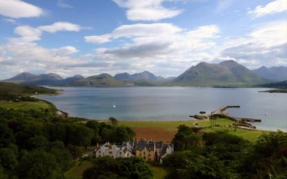 Raasay House from above
