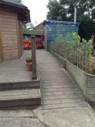 ramp to toilet and cabin
