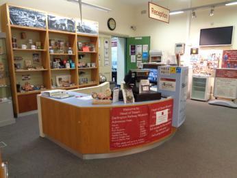 Museum reception desk