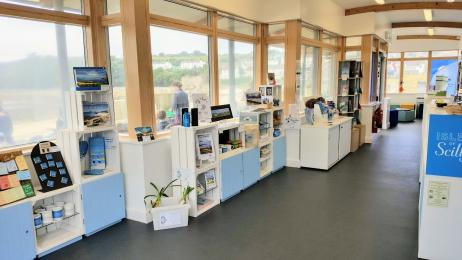 Shop area of the Tourist Information Centre