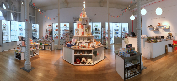 A photograph of the Shop at RAMM's interior.