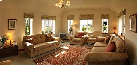 Large comfortable guests lounge in the farmhouse.