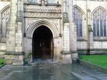 Image displaying the south porch entrance and pathway