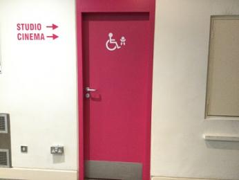 Stalls accessible toilet exterior