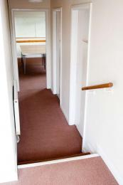 Steps from Main Entrance down to meeting room/ Dining area/ Kitchen